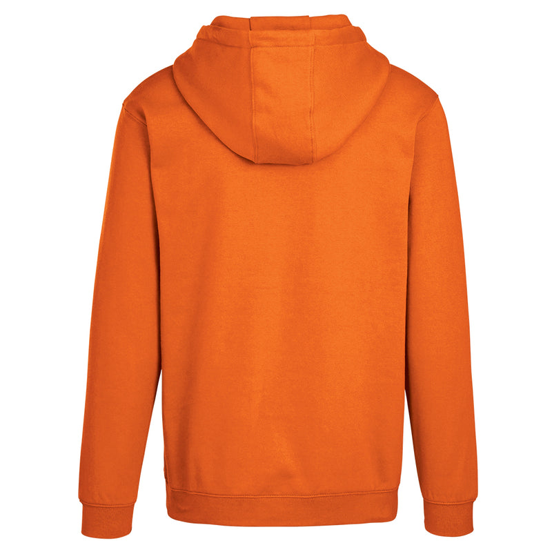 Adult Pullover Hood with Hidden Zipper Pocket in Orange