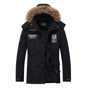 Senlinjeep fur hooded coat - YOTC Clothing