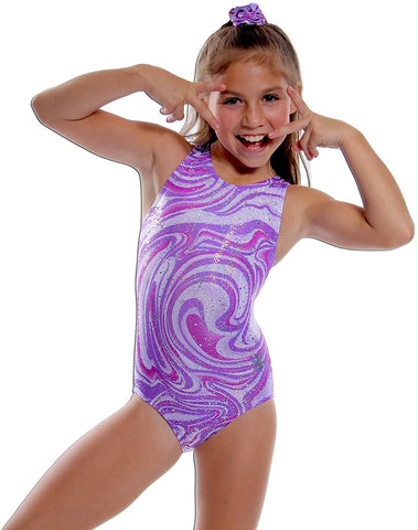 Purple Sparkly Swirl Leotard