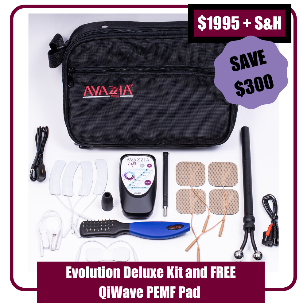 "Avazzia Life Evolution Deluxe Kit + FREE QiWave 6""x12"" PEMF Pad"
