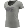 Women Sportswear Mettallic Block Tee, Dk Grey Heather/Mtlc Dark Grey
