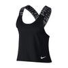 Women Pro Crossover Intertwist Tank, Black/White