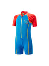Singapore Speedo Infants Seasquad Hot Tot Suit Swimwear, Neon Blue/Risk Red