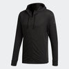 Men Workout Full Zip Light Hooded, Black