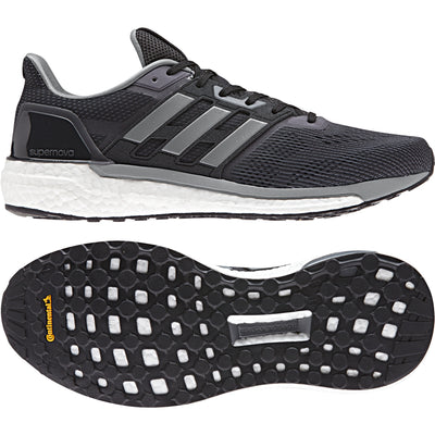 Singapore adidas Neutral Running Shoes Men SUPERNOVA M Running Shoes, Black/Grey