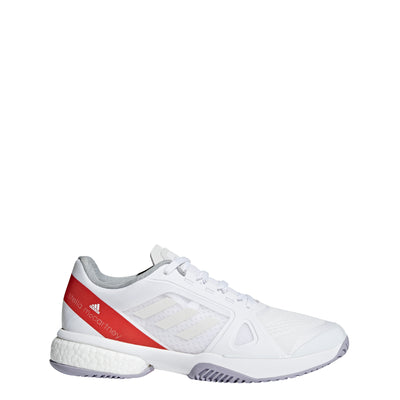 Women aSMC Barricade Boost Tennis Shoes, White/Red