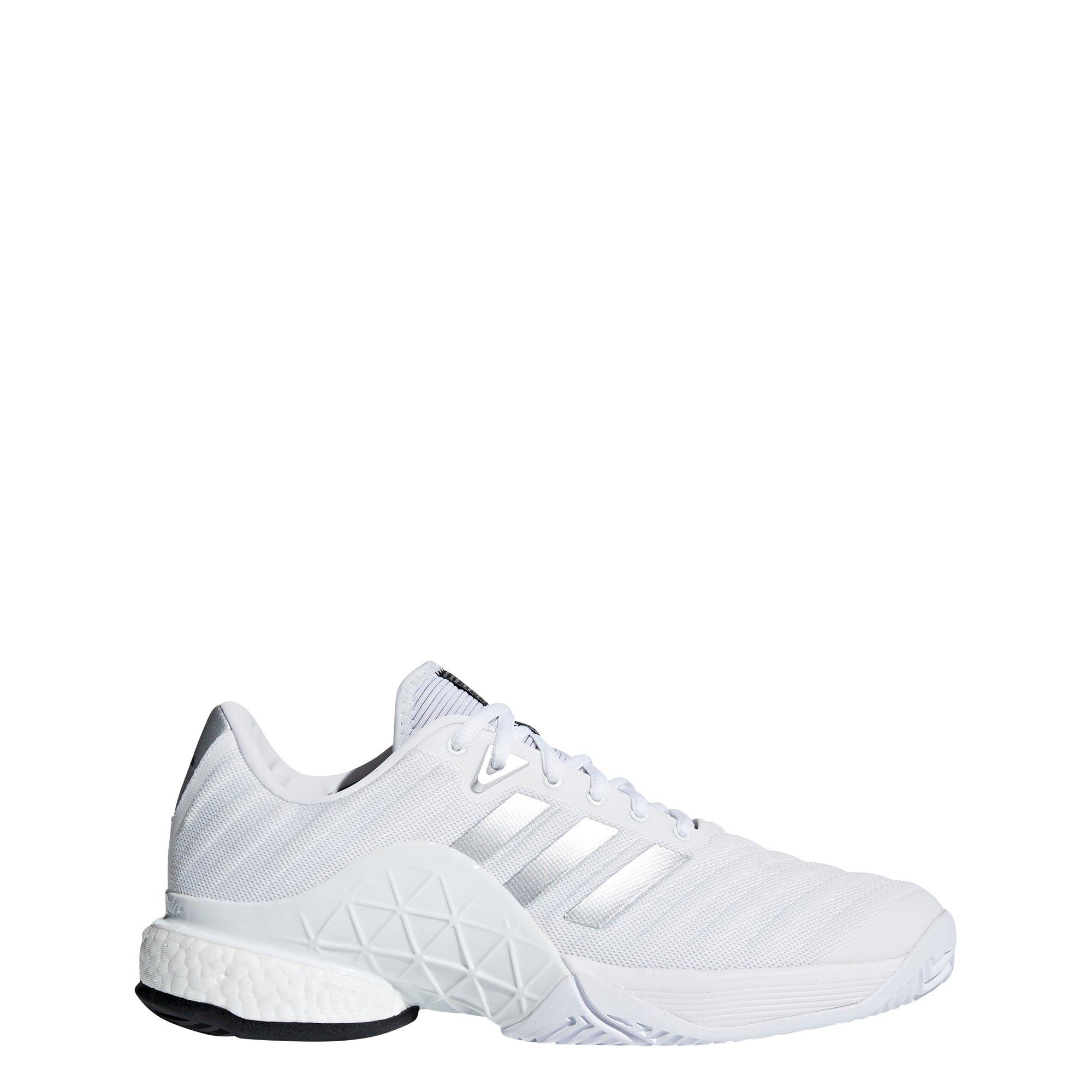 cheap for sale huge discount exclusive range Buy adidas Men barricade 2018 boost Tennis Shoes, White/Silver Online in  Singapore | Royal Sporting House
