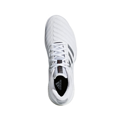Singapore Adidas Men barricade 2018 boost Tennis Shoes, White/Silver