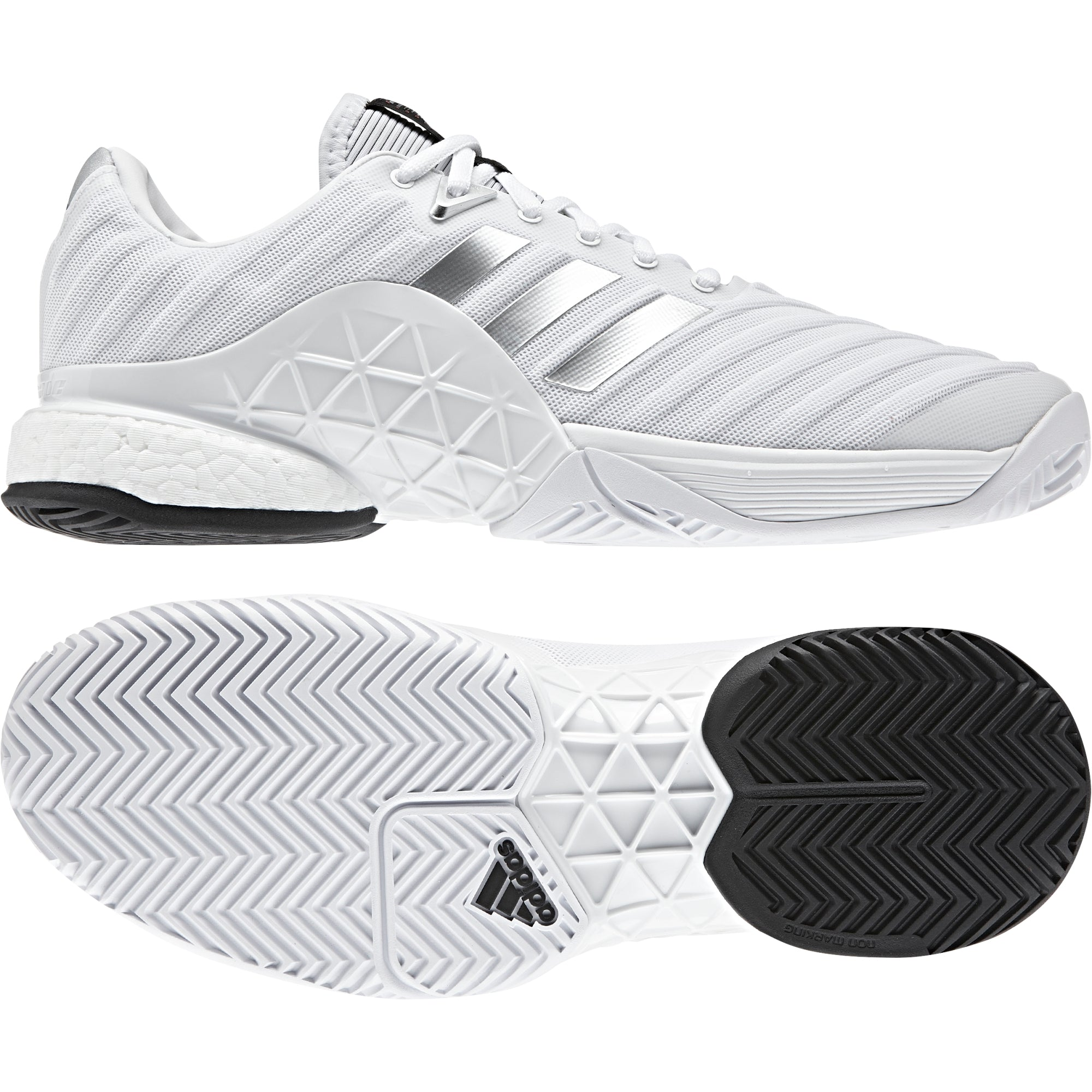 new high top quality coupon codes Buy adidas Men barricade 2018 boost Tennis Shoes, White ...