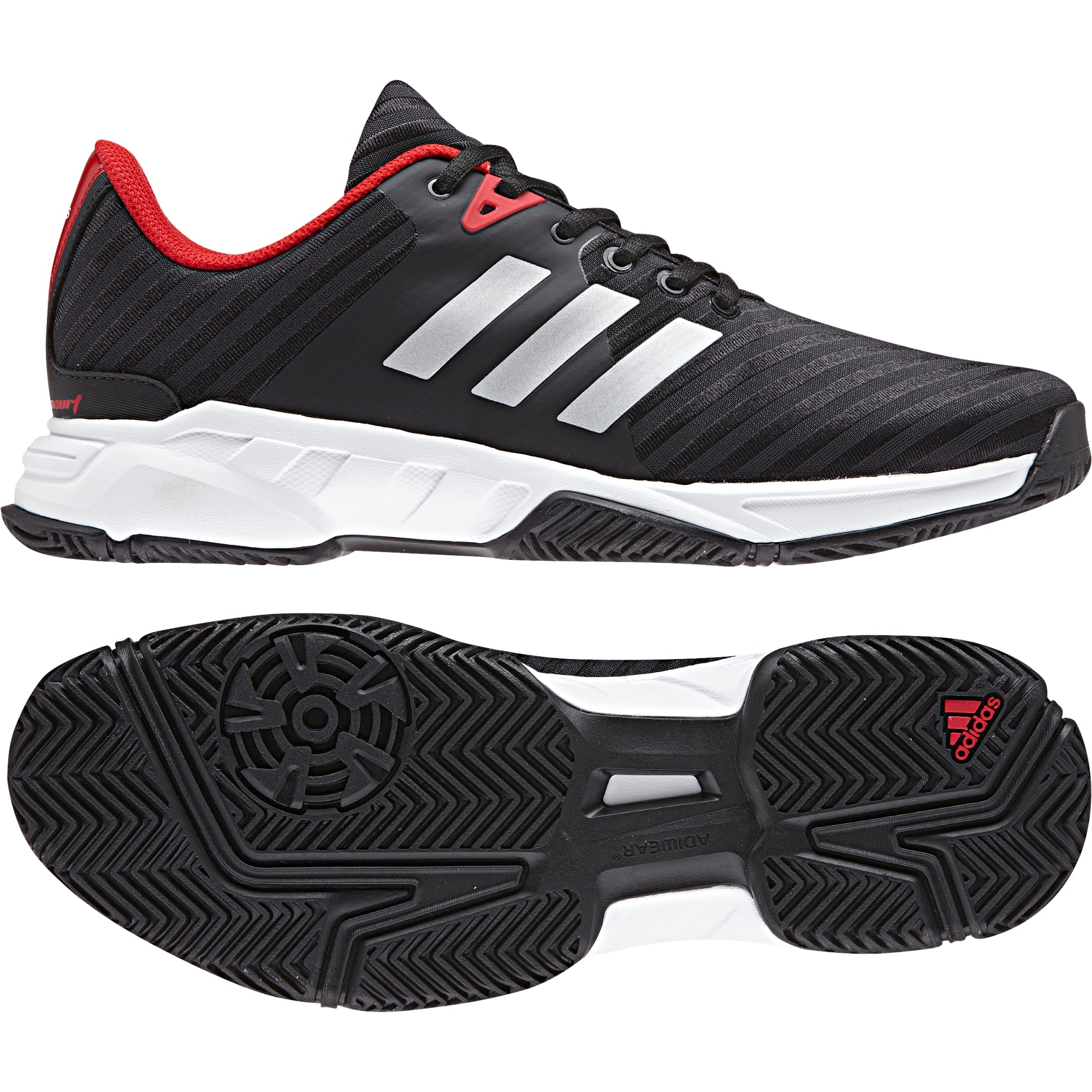 the best attitude 39a3b 9406c Men Barricade Court 3 Tennis Shoes, BlackRed
