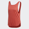 Women Prime Low Back Tank Tops, Red