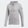 Men Workout Full Zip Light Hood, Grey