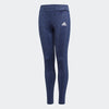 Singapore adidas Girls Training Gear Up 3 Stripes Tights, Noble Indigo/White