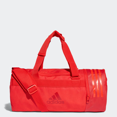 Convertible 3-Stripes S Duffel Bag, Red