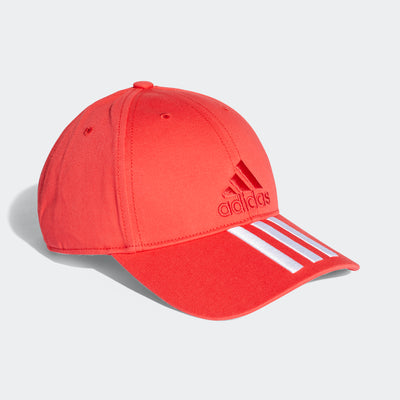 Singapore adidas 6-Panel 3-Stripes Cotto Cap, Red