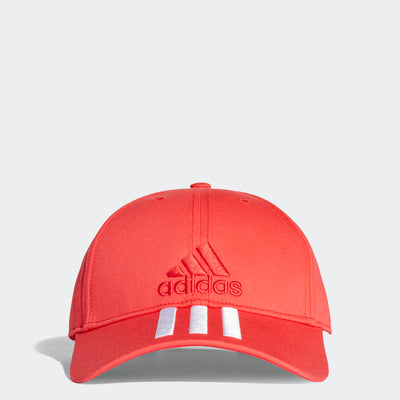 6-Panel 3-Stripes Cotto Cap, Red