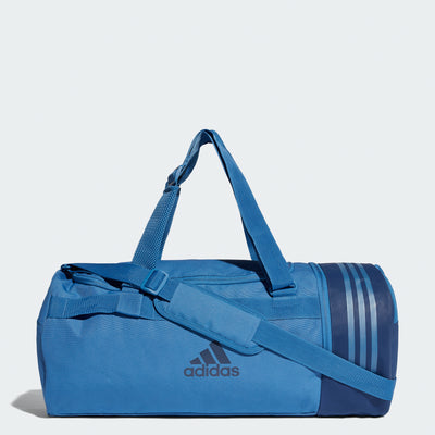 Convertible 3-Stripes Duffel Bag, Blue