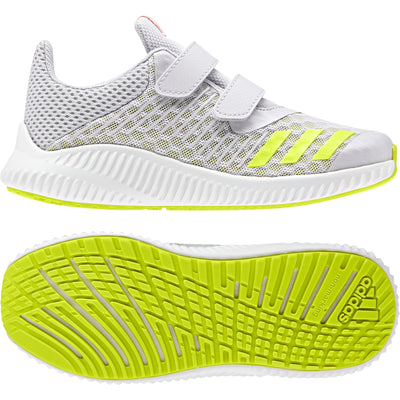Boys Fortarun Cool CF Training Shoes, Grey/Semi Solar Yellow/Ftwr White