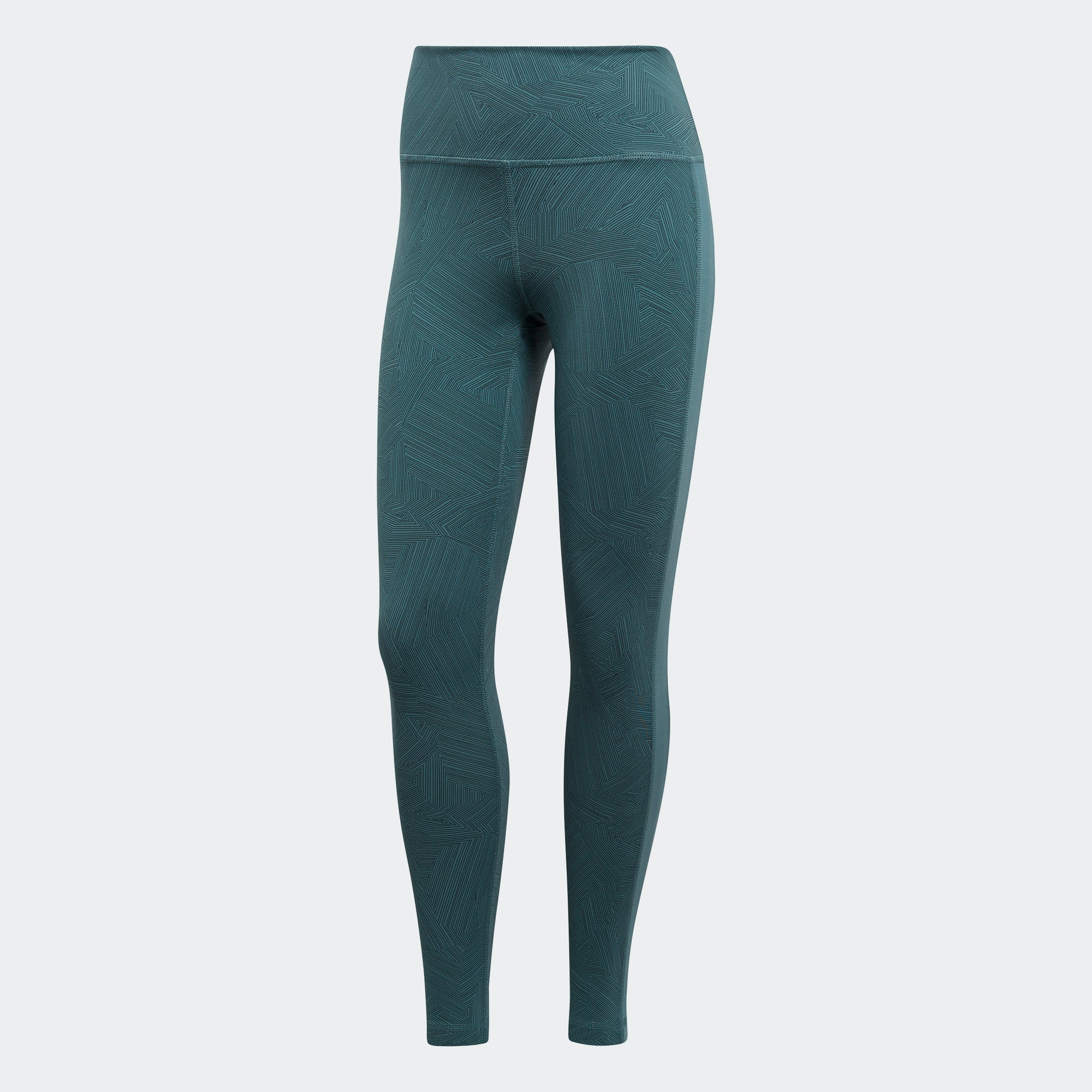 24b40926aee33 Buy adidas Wanderlust Believe This High-Rise Tights, Raw Green in ...