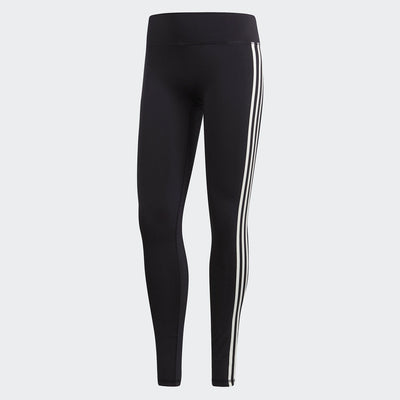 Women Believe This 3-Stripes Solid Tights, Black