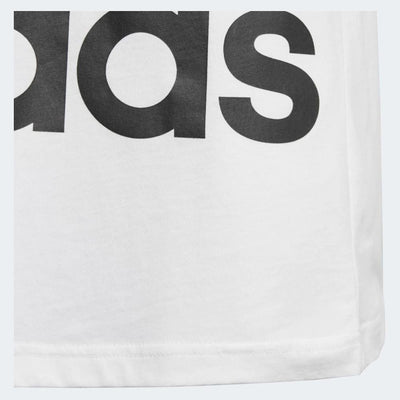 Boys Big Logo Tee, White/Black