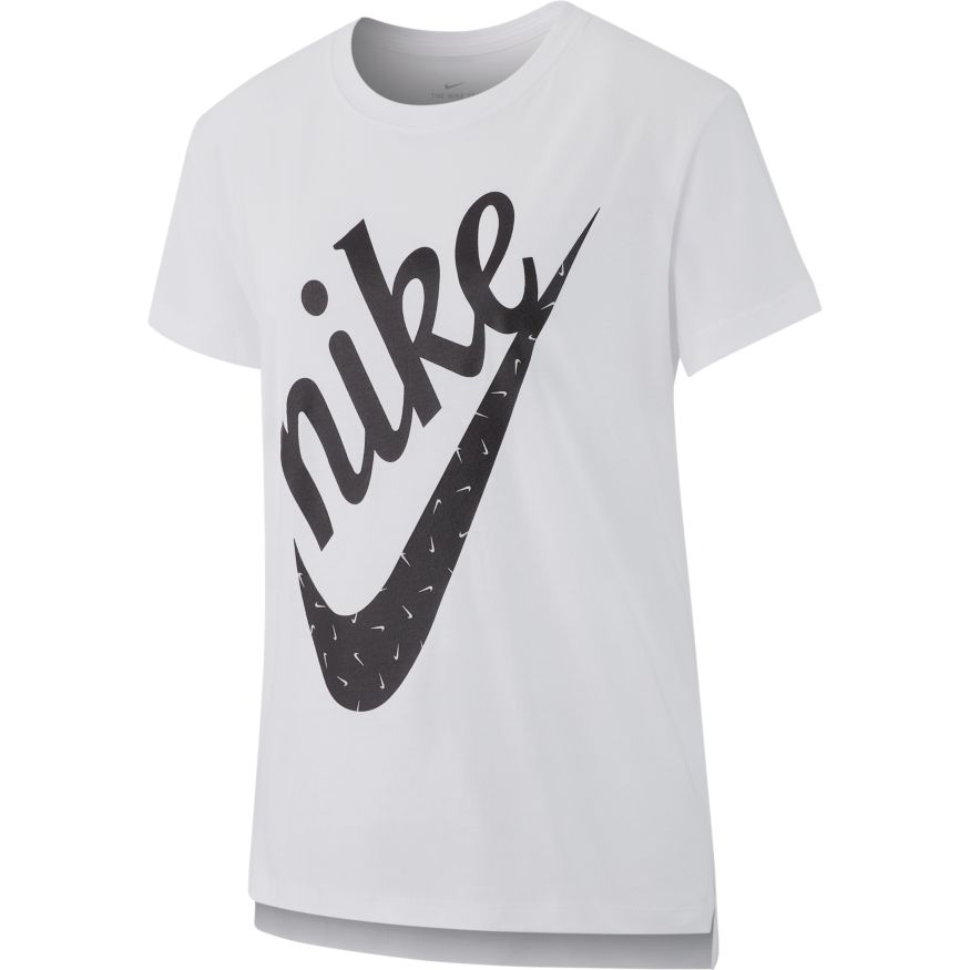 4fc01224 Buy Nike Girls' Sportswear Icon Futura T-shirt, White Online in Singapore |  Royal Sporting House