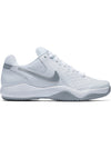 Singapore Nike Women Air Zoom Resistance Tennis Shoe, White/Metallic Silver/Wolf Grey