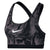 Women Classic Printed Marble Sports Bra, Gunsmoke/Black/White