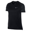 Women Miler Short Sleeve Top, Black