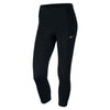 Women Dry-Fit Essential Crop Leggings, Black