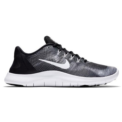 Men Flex 2018 Running Shoes, Black/White