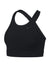 Women Classic Cross Back Sports Bra, Black/White
