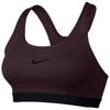 Women Classic Pad Sports Bra, Burgundy Crush/Black/Black