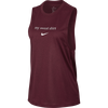 Women Dry Legend Sweat Tank, Burgundy Crush/Rush Pink/White