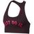 Women Victory Compression Graphic Sports Bra, Burgundy Crush/Rush Pink/Rush Pink