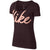 Women Dfc Big Script Dry Tee, Burgundy Crush/Storm Pink