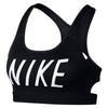 Women Swoosh Logo Sports Bra, Black/White