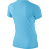 Girls Legend Youth Short Sleeve Top, Blue Chill/Gym Blue