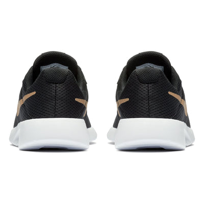 Boys Tanjun Running Shoe, Black/Metallic Gold-White