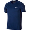Singapore Nike Men Short Sleeve Miler Top, Blue Void/Htr