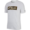 Men Dry-Fit Just Don't Quit Graphic Short Sleeve Tee, Black/Neutral Olive/White