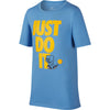 Boys Sportswear Kick Just Do It Tee, University Blue/Amarillo