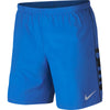 Singapore Nike Men Graphic Running Shorts, Signal Blue/Black