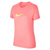 Girls Legend Youth Short Sleeve Top, Lava Glow/Pure