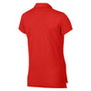 Women Nikecourt Pure Short Sleeve Polo, Habanero Red/White