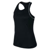 Women Nikecourt Dry Tank, Black/White