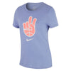 Girls Basketball Peace Dry Tee, Twilight Pulse