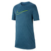 Boys Dry Legend 3D Swoosh Tee, Blue Force/Ocean Bliss/Volt