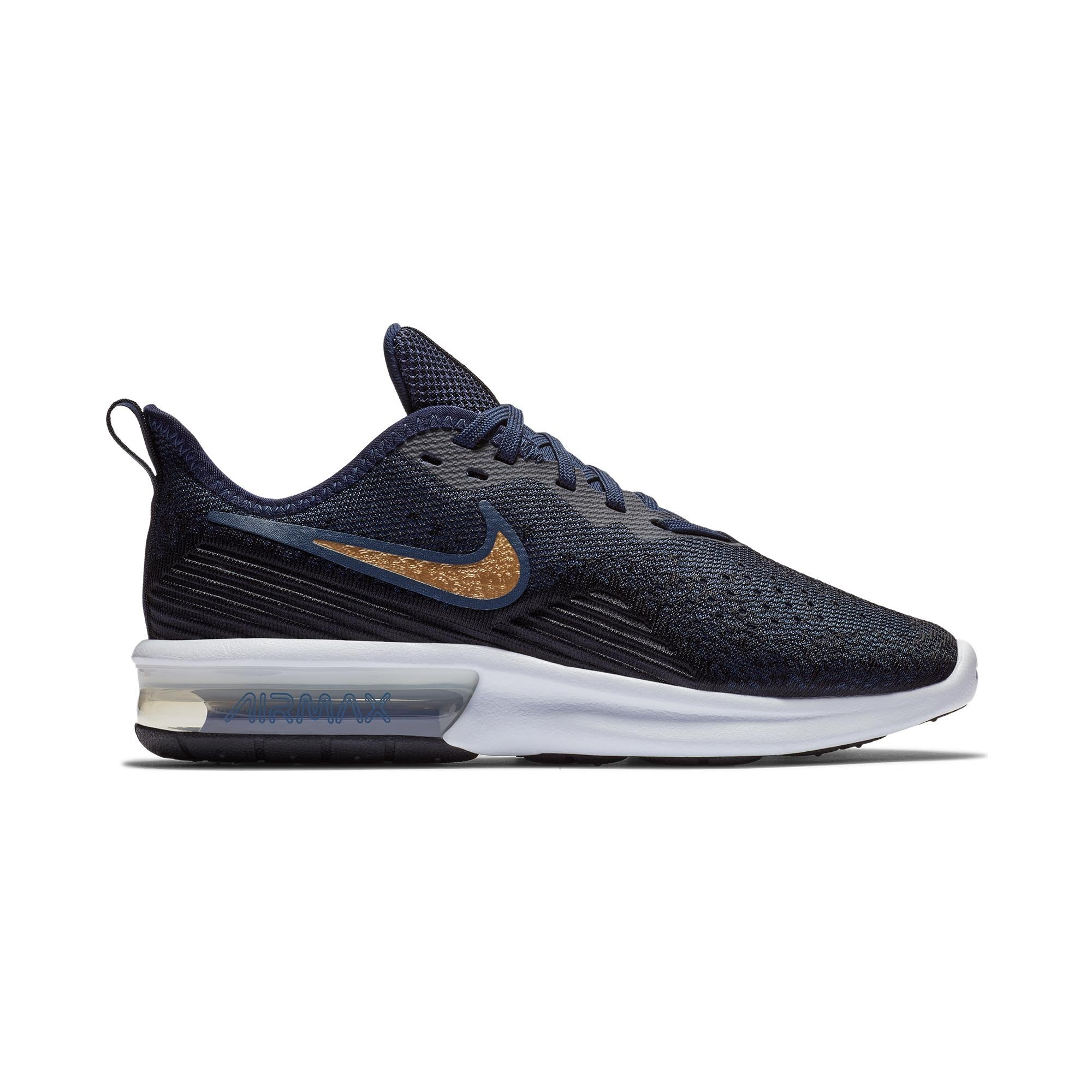 3e13171c79 Buy Nike Women Air Max Sequent 4 Running Shoes, Black/Metallic  Gold/Obsidian/White Online in Singapore | Royal Sporting House