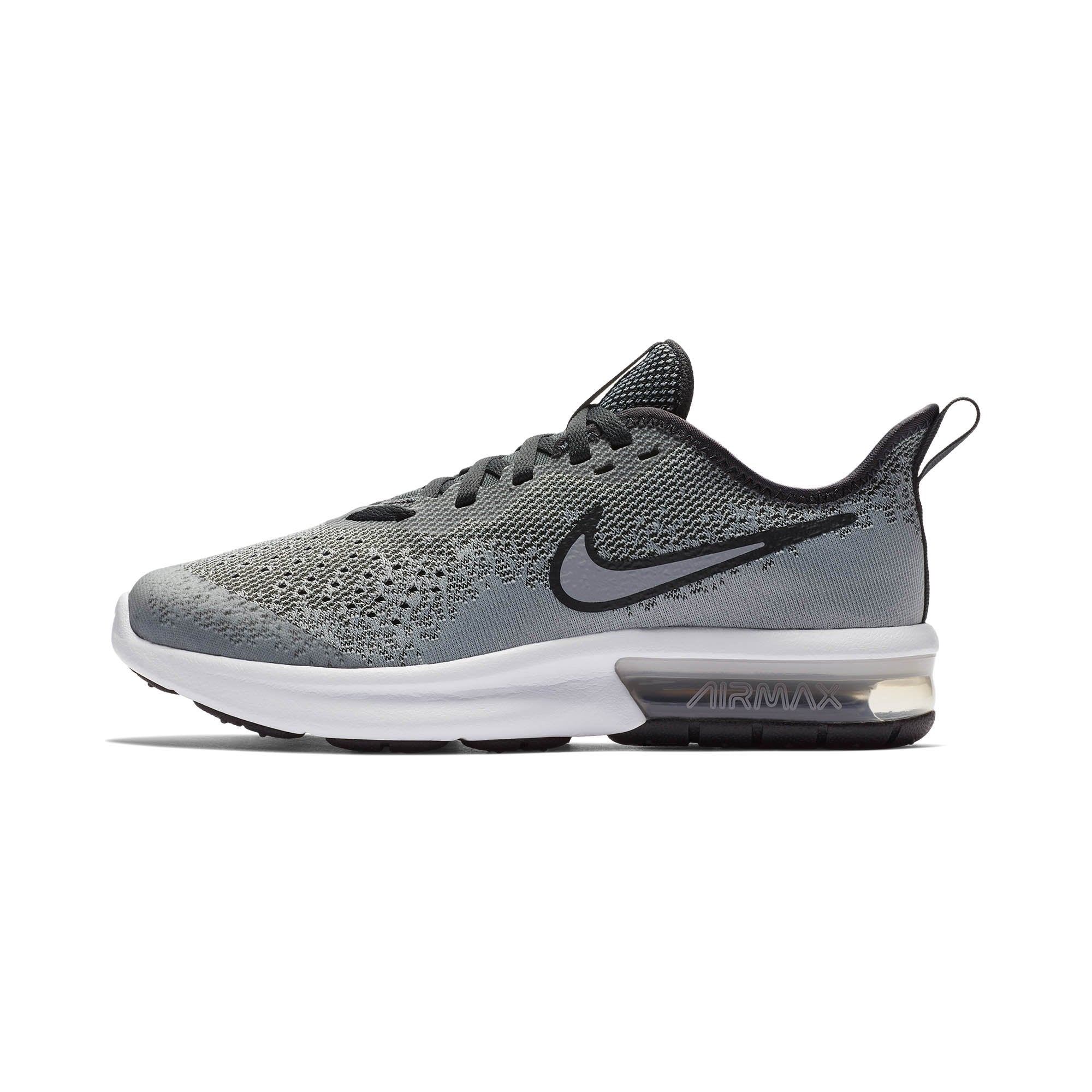 new arrival a1f64 31f03 Singapore NIKE Running Shoes Boys Air Max Sequent 4 Grade School Running  Shoes, Wolf Grey